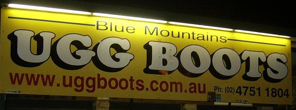 ugg blue mountains